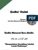 Qodho' Sholat