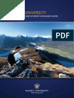 Study Abroad Guide Massey University