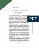 Maraqten Writing Materials in Pre-Islamic Arabia