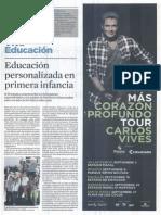 Educación Personalizada en Primera Infancia