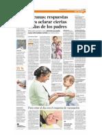 Vacunas Respuestas Para Aclarar Ciertas Dudas de Los Padres