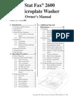 APlate Washer StatFax 2600 OM Rev I.2
