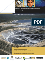 Autonomous and Remote Operation Technologies in Australian Mining