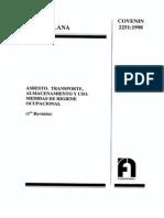 2251-1998 Asbesto. Almacenamiento, Transporte y Uso. Medidas