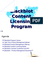 Blackblot Content Licensing Program