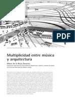 Multiplicidad Entre Música y Arquitectura