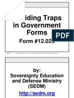 Avoiding Traps in Government Forms Course, Form #12.023