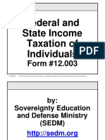 Federal and State Income Taxation of Individuals, Form #12.003