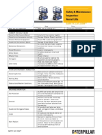 Aerial Lift Checklist