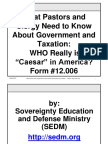 What Pastors and Clergy Need to Know About Government and Taxation, Form #12.006