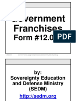Government Franchises Course, Form #12.012