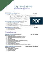 arochefort edu 695 resume
