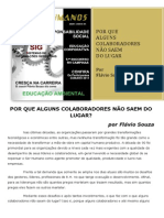 Porque Alguns Colaboradores Nao Saem Do Lugar - Flavio Souza
