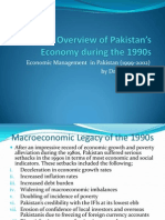 Historical Overview of Pakistan_s Economy During the 1990s
