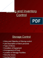 Storage and Inventory Control