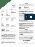 Bulletin for September 28, 2014