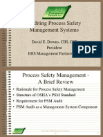 Auditing PSM Systems
