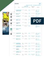 Calendario 2014 - Tenis -ATP Español