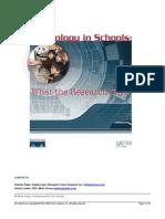 Technology in Schools Report