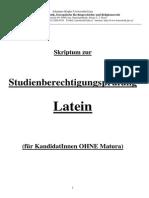 Skriptum Studienberechtigungspruefung Latein Linz - PDF