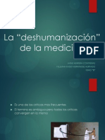 La Deshumanizacion Medica