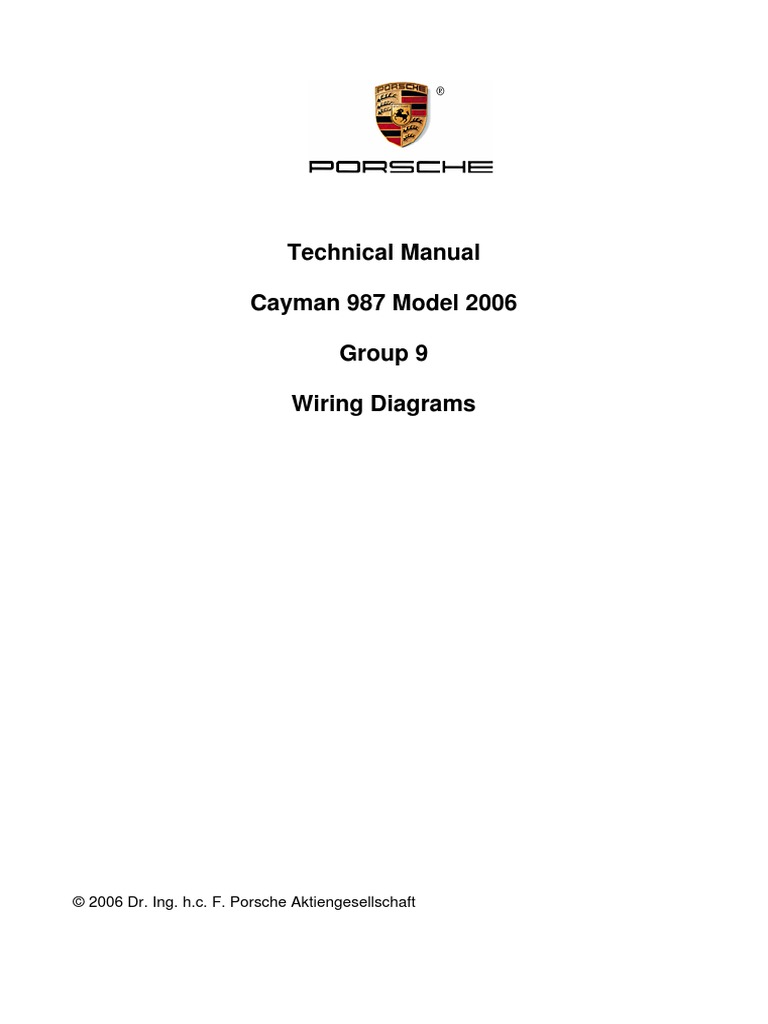 cayman(987) 2006 wiring diagrams | electrical wiring | electrical connector  scribd