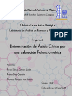 Determinacion de Acido Citrico Potenciometrica