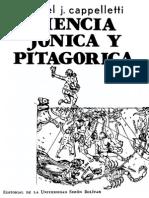 Cappelletti, Angel J. - Ciencia Jonica y Pitagorica. Ed. Univ. Simon Bolivar 1980