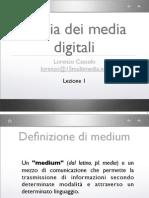 Storia Dei Media Digitali - Lezione 1 - Dalla Preistoria ai media di massa