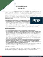 Examenes Bimestrales Octubre 2014 Comunicado Ppff Ok