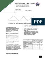 Compensacion en Cadena de Triangulos 2014 Topografia 2 Utea Abancay