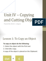 Unit IV – Copying and Cutting Objects