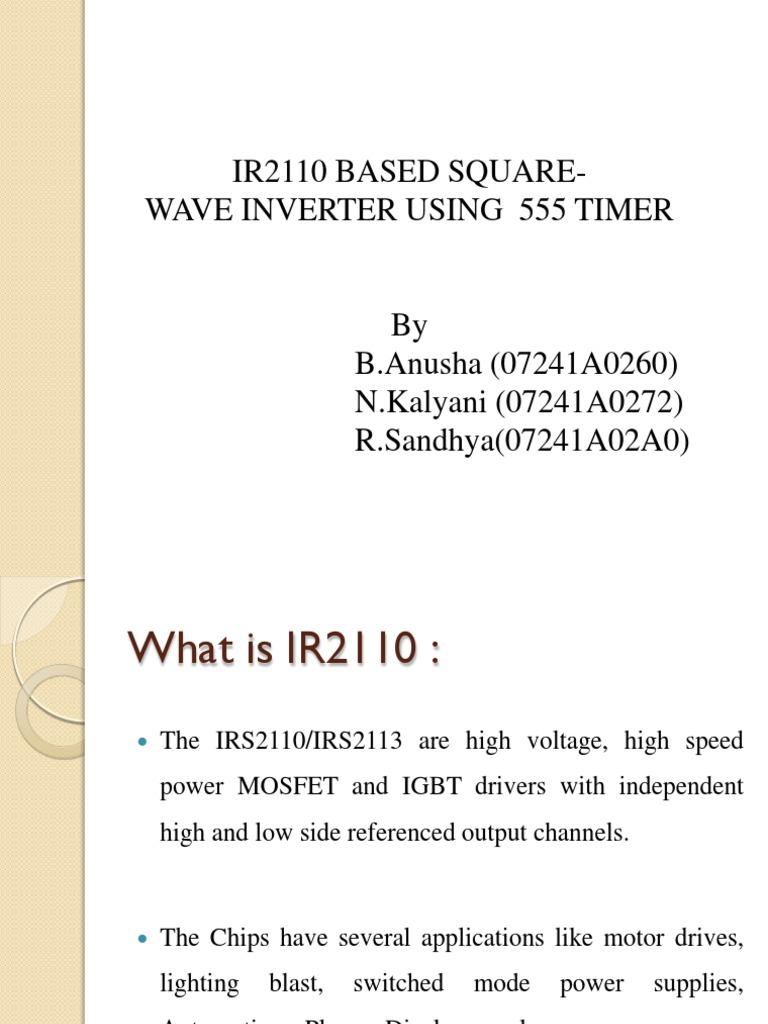 Batch-4(B)-IR2110 based square wave inverter using 555 timer pdf