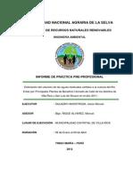 Estimacion Del Volumen de Las Aguas Residuales Vertidos a La Cuenca Del Rio Entaz