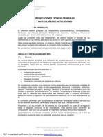 02 - Especificaciones Técnicas Generales y Particulares de Instalaciones (1)
