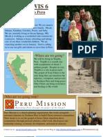 Peru Mission Newsletter #1revised