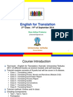 English for Translation Class2 Module2&3  (20120916).ppt