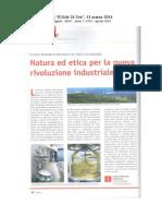 Natura ed Etica per nuova rivoluzione industriale Sole24Ore 31/3/2014