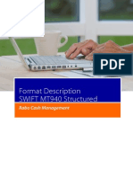 Format Description SWIFT MT940 Structured as of Early June 2013 New