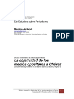 Estudios Sobre Periodismo. Ambort. Muerte de Chávez