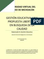 Gestión Educativa; Una Propuesta Libertaria