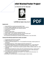famous scientist wanted poster project 2014
