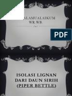 PPT Fitokimia Lignan