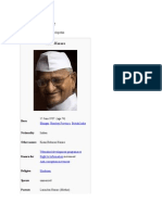 Anna Hazare - Wikipedia, The Free Encyclopedia