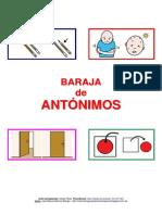 BARAJA ANTONIMOS / CONTRARIOS / OPUESTOS