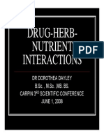 Drug-Herb Nutrient Interactions_Dr.dorothia Dayley