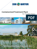 Containerized Treatment Plant for Potable Water