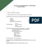 Plan de Examinare Si de Prezentare a Leziunilor Macroscopice