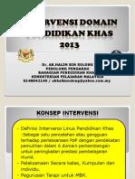 Taklimat Konsep Intervensi Domain Pend Khas 2013
