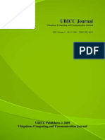 UbiCC Journal - Volume 4 Number 3 - Ubiquitous Computing and Communication Journal